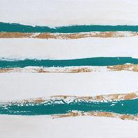 Art/Wall Decor - Mod Undercurrent Turquoise No 2 Original Abstract by GildedMint I Etsy - turquoise gold and white abstract, turquoise gold and white art, turquoise gold and white abstract art,