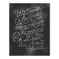 Art/Wall Decor - Socrates Print I molly jacques lettering + illustration - socrates print, black and white socrates quote print, socrates quote print, chalk board socrates quote print,