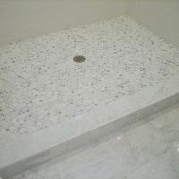 Ten June - bathrooms - marble tiled shower floor, marble floor shower enclosure, stand alone tiled shower, walk-in tiled shower, marble tiled floors, marble floor tile, white subway tile, subway tile, subway tiled shower enclosure, marble hex tile, marble hex tiled floor, hexagonal marble floor tile, hexagonal mini marble floor tile, mini hex marble tile, mini hexagonal marble tile, grecian marble, grecian white marble tile, grecian white marble, Grecian White Marble Hex Tile,