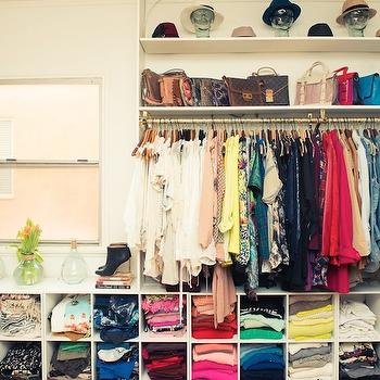 Song of Style - closets - shelf for bags, shelf for handbags, closet cubby, closet cubbies, sweater cubbies, shirt cubbies, jean cubbies, hat shelf,