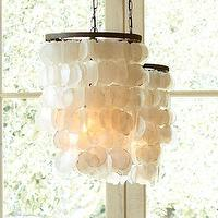 Lighting - Capiz Chandelier - Small | Pottery Barn - capiz pendant, capiz chandelier, capiz shell chandelier,