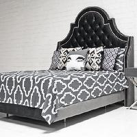 Bedding - Casablanca Bedding in Charcoal I roomservicestore - modern charcoal gray bedding, modern charcoal gray and white bedding, modern gray and white moroccan bedding,