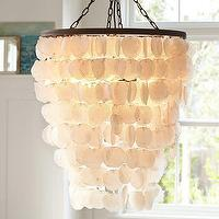 Lighting - Capiz Chandelier - Large | Pottery Barn - capiz pendant, capiz chandelier, capiz shell chandelier,