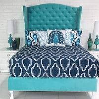 Bedding - Casablanca Bedding in Navy I roomservicestore - modern navy and white bedding, modern navy and white moroccan tile bedding, navy and white modern moroccan bedding,