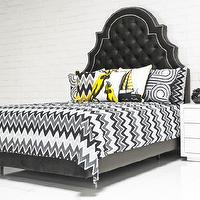 Bedding - Zig Zag Bedding in Grays/Black I roomservicestore - black and gray zig zag bedding, zig zag bedding, modern black and gray zig zag bedding,