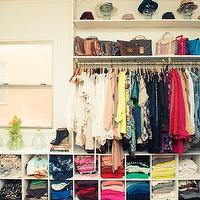 Song of Style - closets: shelf for bags, shelf for handbags, closet cubby, closet cubbies, sweater cubbies, shirt cubbies, jean cubbies, hat shelf,