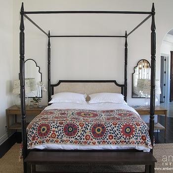 Suzani Blanket, Eclectic, bedroom, Amber Interiors