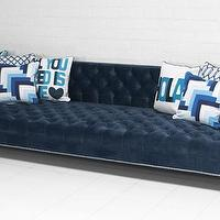 Seating - New Deep Sofa in Mystere Sapphire Velvet Fabric I roomservicestore - blue velvet tufted sofa, blue velvet contemporary tufted sofa, blue velvet tufted sofa with nailhead trim,