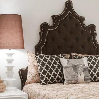 Beds/Headboards - Chocolate Velvet Casablanca Bed I roomservicestore - chocolate brown velvet headboard, brown tufted velvet headboard, brown velvet tufted headboard with nailhead trim,
