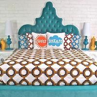 Beds/Headboards - Tangier Bed in Aqua Velvet I roomservicestore - aqua velvet tufted bed, sculptural aqua velvet tufted bed,