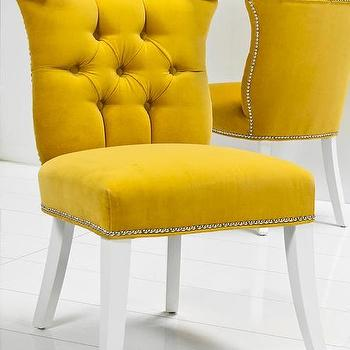 Seating - Bel Air Dining Chair I roomservicestore - yellow velvet tufted dining chair, yellow velvet button tufted dining chair, yellow velvet button tufted dining chair,