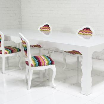 Tables - Baroque Dining Table with Starfire Glass Top I roomservicestore - modern white dining table, modern white baroque dining table, modern baroque dining table,