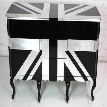 Storage Furniture - Big Ben Dresser I roomservicestore - black and silver union jack dresser, union jack dresser, british flag dresser,
