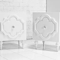 Tables - Marrakesh Side Tables in White Gloss I roomservicestore - modern moroccan side tables, white gloss moroccan side tables, modern white gloss moroccan side tables,