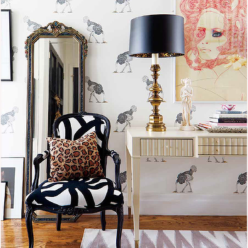 Black and White Chair, Eclectic, entrance/foyer, Bijou and Boheme