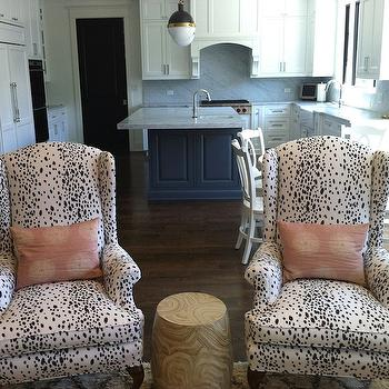 Brunschwig & Fils Les Touches Cotton Print Black, Eclectic, living room, Bijou and Boheme
