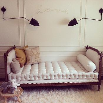 French Tufted Settee, Eclectic, nursery, Bijou and Boheme