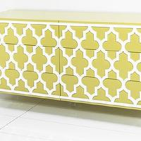 Storage Furniture - Tangier Dresser I roomservicestore - modern moroccan style dresser, yellow dresser with raised trellis motif, modern dresser with raised trellis motif,