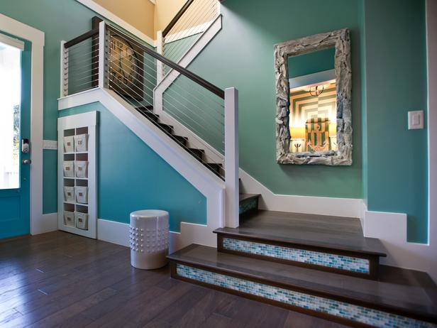 Foyer Paint Colors Sherwin Williams : Turquoise paint colors contemporary entrance foyer