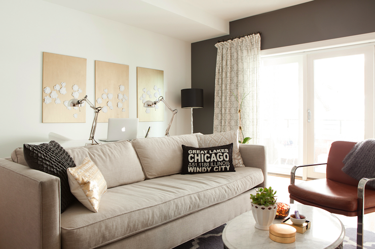 Kendall Charcoal - Contemporary - living room - Benjamin Moore Kendall ...