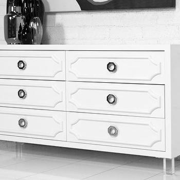 Seating - Custom Hollywood Dresser I roomservicestore - modern white dresser, white hollywood regency dresser, hollywood regency style dresser,