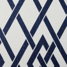 Fabrics - Duralee Berkeley Print Collection Navy Fabric I LynnChalk.com - navy and white geometric fabric, navy and white modern fabric, diamond trellis navy and white fabric,