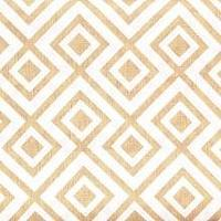 Fabrics - David Hicks La Fiorentina Ivory and Camel Fabric I LynnChalk.com - geometric ivory and camel fabric, ivory and camel fabric, modern ivory and camel fabric,