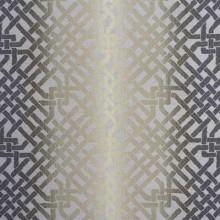 Fabrics - Kelly Wearstler Ombre Maze Ebony Ivory Fabric I LynnChalk.com - geometric fabric, metallic sheen fabric, geometric metallic sheen fabric,