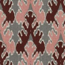 Fabrics - Kelly Wearstler Bengal Bazaar Graphite Rose Fabric I LynnChalk.com - gray and pink fabric, gray pink and maroon fabric, gray pink and maroon patterned fabric,