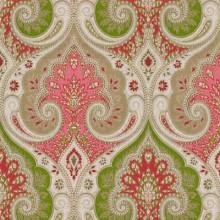 Fabrics - LATIKA Geranium by Kravet Echo Home Fabric I LynnChalk.com - green pink and ivory fabric, green and pink fabric, green and pink patterned fabric,