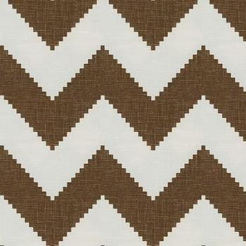 Fabrics - Limitless by Jonathan Adler for Kravet Fabric I LynnChalk.com - brown and white chevron fabric, brown and white zig zag fabric, chocolate brown and white chevron fabric,