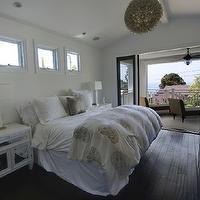 Mirror Nightstand Contemporary Bedroom Benjamin Moore Silken Pine Hgtv