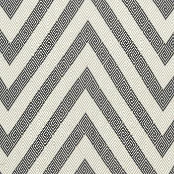 Fabrics - Martyn Lawrence Bullard Nabaha Embroidery Charcoal Fabric I LynnChalk.com - greek key chevron fabric, black and white greek key fabric, black and white greek key chevron fabric,
