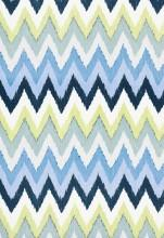 Fabrics - Martyn Lawrence Bullard Adras Ikat in Sky Fabric I LynnChalk.com - blue and green ikat fabric, blue and green chevron fabric, blue and green ikat chevron fabric,