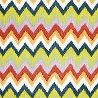 Fabrics - Martyn Lawrence Bullard Adras Ikat in Caravan Fabric I LynnChalk.com - ikat chevron fabric, multi-colored chevron fabric, multi-colored chevron ikat fabric,