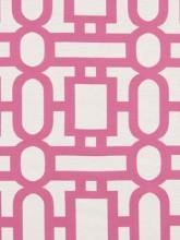 Fabrics - Robert Allen Bend the Rules Fuchsia Fabric I LynnChalk.com - pink and white geometric fabric, pink and white fabric, modern pink and white fabric,
