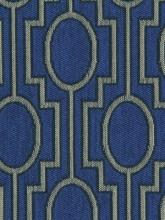 Fabrics - Robert Allen Pagoda Pass Cobalt Fabric I LynnChalk.com - cobalt blue fabric, cobalt blue geometric fabric,