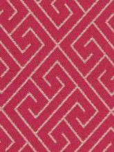 Fabrics - Robert Allen Endless Paths Fuchsia Fabric I LynnChalk.com - fushsia pink and white geometric fabric, pink and white geometric fabric, fuchsia pink greek key fabric,