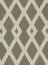 Fabrics - Robert Allen Graphic Fret Flax Fabric I LynnChalk.com - taupe and ivory fabric, taupe and ivory geometric fabric, taupe and ivory interlocking diamond fabric,