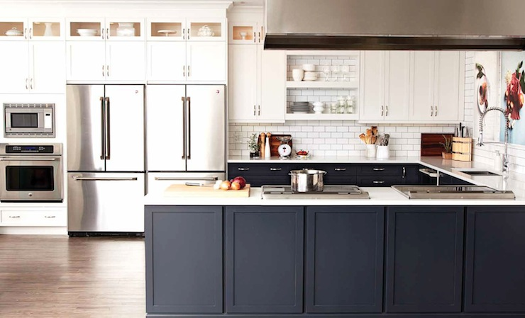 Two tone kitchen cabinets black and white - Two Tone Kitchen Cabinets Contemporary Kitchen Chatelaine