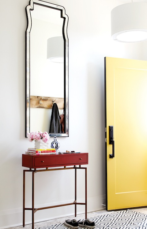 Yellow Foyer Table : Yellow front door contemporary entrance foyer chatelaine