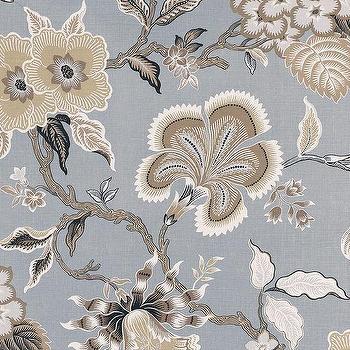 Schumacher Celerie Kemble Hot House Flowers Mineral Fabric I LynnChalk.com