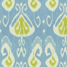Fabrics - BANSURI Capri by Kravet Echo Home Fabric I LynnChalk.com - blue and green ikat fabric, blue green and ivory ikat fabric, ikat fabric,