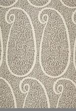 Fabrics - Schumacher Ambala Paisley Greige Fabric I LynnChalk.com - greige paisley fabric, gray and ivory paisley fabric, large scale gray paisley fabric,