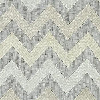 Fabrics - Robert Allen Precise Stitch Meringue Fabric I LynnChalk.com - silver and grey chevron fabric, silver gray and cream chevron fabric, chevron fabric,