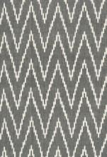 Fabrics - Schumacher Kasari Ikat Graphite Fabric I LynnChalk.com - gray and white ikat fabric, gray and white ikat zig zag fabric, ikat zig zag fabric,