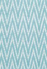 Fabrics - Schumacher Kasari Ikat Turquoise Fabric I LynnChalk.com - turquoise ikat fabric, turquoise and white ikat fabric, turquoise blue and white ikat zig zag fabric,