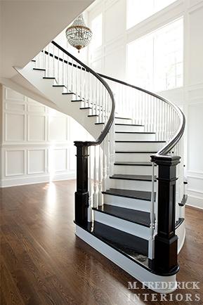 Winding staircase traditional entrance foyer m - Alfombras para escaleras ...