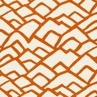 Fabrics - Schumacher Zimba Orange Fabric I LynnChalk.com - orange and ivory fabric, orange and ivory patterned fabric, modern orange and ivory fabric,
