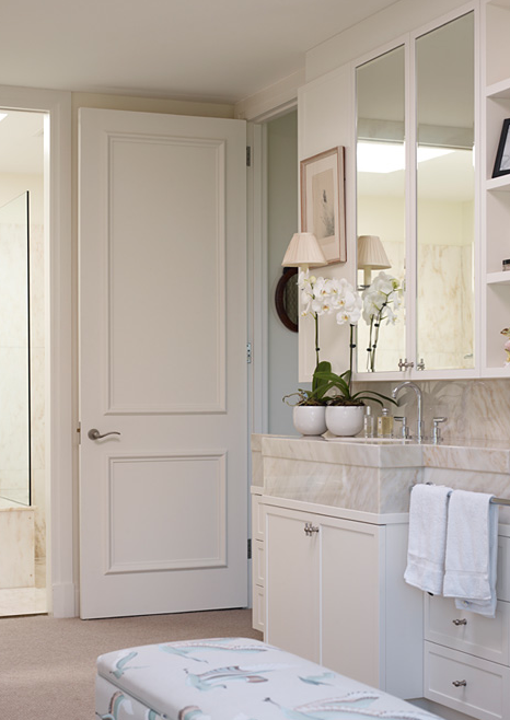 Mirrored cabinets transitional bathroom adelaide bragg for Bathroom ideas adelaide